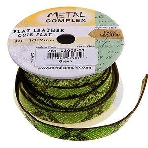 John Bead Corporation . JBC (DISC) - Faux Snake Leather Green