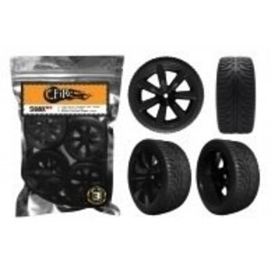 FIREBRAND RC . FBR SHANX RT 1/10 WHEEL/TIRE SET