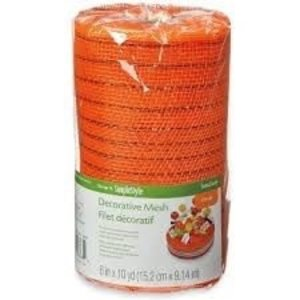 "Floracraft . FLC Decorative Mesh 6"" - Metallic Orange"
