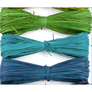 Floracraft . FLC Raffia Green/Blue/Teal