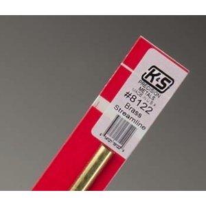 K&S Engineering . K+S 12 Brass Streamline Tube