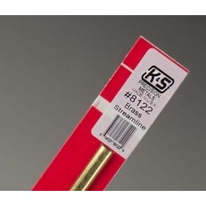 K&S Engineering . KSE 12 Brass Streamline Tube