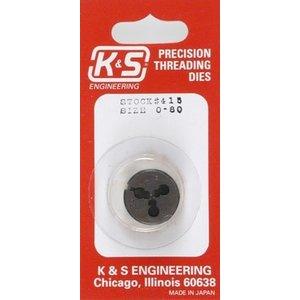 K&S Engineering . K+S 0-80 THREADING DIE