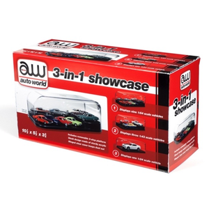 Auto World . AWD 1/24 3 IN 1 DISPLAY CASE