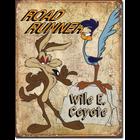 Desperate Enterprises . DPE Roadrunner Wile E Coyote Tin Sign