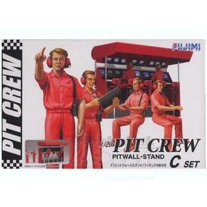 Fujimi Models . FUJ 1/24 PIT CREW(4) W/PITWALL STD