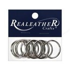 Silver Creek Crafts . SCC Silver Creek Split Key Ring 1 1/4 10 Pieces Nickel Leather Crafts Calgary