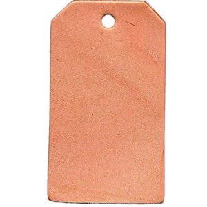 Silver Creek Crafts . SCC LEATHER TAG SHAPE SMALL 3PK