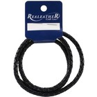 """Silver Creek Crafts . SCC Silver Creek Round Braided Lace 5mm x 24"""" Black Leather Crafts Calgary"""
