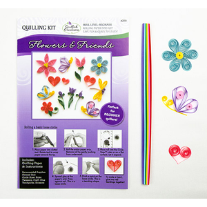 Quilled Creations . QUI Flowers & Friends Quilling Kit