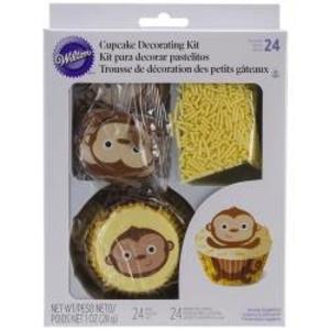 Wilton Products . WIL (DISC) - Cupcake Decorating Kit - Monkey Theme