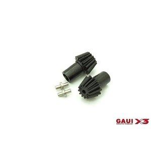 Gaui . GAI GAUI X3 13T Front Transmission Bevel Gear Set 2pcs