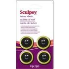 Sculpey/Polyform . SCU SCULPEY TEXTURE WHEEN HEAD 4 PACK