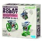 4M Project Kits . FMK Solar Robot 3-in-1 Green Science Kit