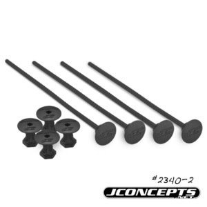 J Concepts . JCO 1/10th Off-Road Tire Stick, Holds 4 Mounted Tires, Black