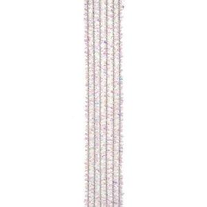 Darice . DAR Chenille Stems - 6mm - White Iridescent - 25 pieces