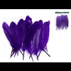 """MultiCraft . MCI 8"""" Goose Feathers x12 F) Purple"""