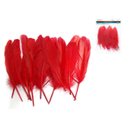 """MultiCraft . MCI 8"""" Goose Feathers x12 G) Red"""