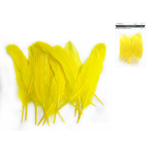 """MultiCraft . MCI 8"""" Goose Feathers x12 J) Yellow"""