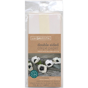 Lia Griffith . LGN Double-Sided Extra Fine Crepe Paper 2/Pkg