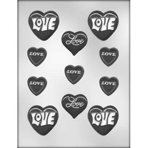 CK Products . CKP Hearts With Love Assortment Chocolate Mold