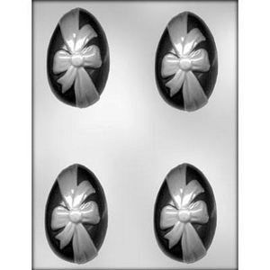 """CK Products . CKP 3-1/4"""" Egg with Ribbon Chocolate Mold"""