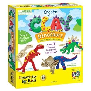 Creativity for kids . CFK Create with Clay Dinosaurs