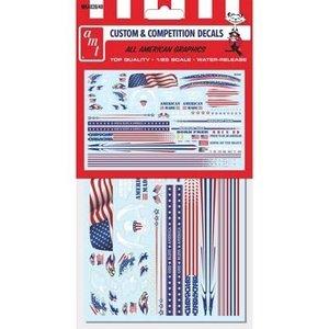 AMT\ERTL\Racing Champions.AMT 1/25 All American Graphics Custom Decals