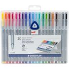 Staedtler Mars . STD Triplus Fineliner Multi-color Pens 20/Pkg