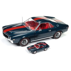 American Muscle Diecast . AMD 1/18 1968 AMC AMX Hardtop 50th Anniversary