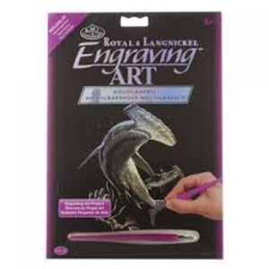 Royal (art supplies) . ROY Engrave Art Holographic - Hammerhead Shark