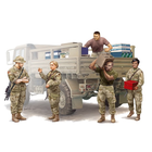 Trumpeter . TRM 1/35 Modern U.S. Soldiers – Logistics Supply Team