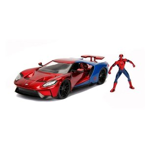 Jada Toys . JAD 1/24 Hollywood Rides - 2017 Ford GT w/ Spider-Man