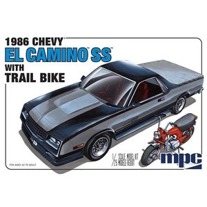 MPC . MPC 1/25 86 El Camino SS with Dirt Bike