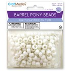 MultiCraft . MCI White Barrel Pony Beads