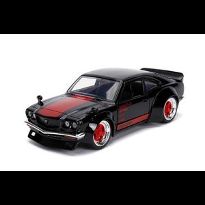 Jada Toys . JAD 1/24 1974 Mazda RX-3 - Glossy Black