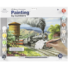 Royal Brush . RBM No. 90's Daily Run Paint by Number Nature Steam Engine Train Calgary