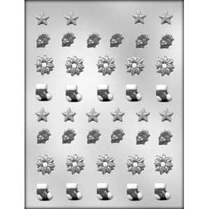 "CK Products . CKP Christmas Assortment ⅝"" Chocolate Mold - 4124"