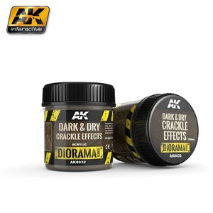 A K Interactive . AKI Dark And Dry Crackle Effects 100ml