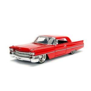 Jada Toys . JAD 1/24 1963 Cadillac - Red