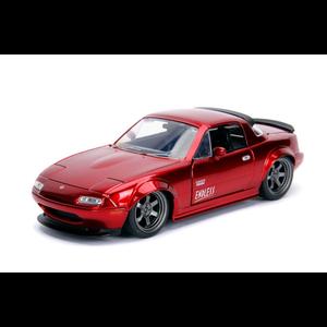"Jada Toys . JAD ""JDM Tuners Metals Die Cast"" 1/24 1990 Mazda Miata - Candy Red"