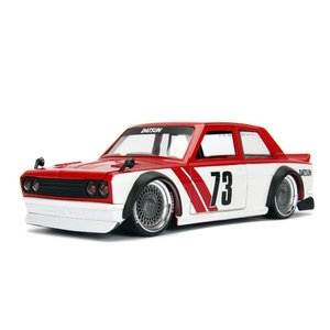 Jada Toys . JAD 1/24 1973 Datsun 510 - Glossy Red