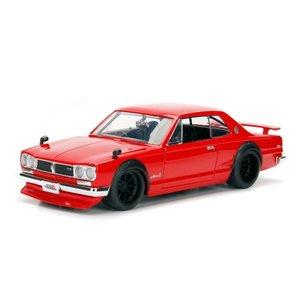 Jada Toys . JAD 1/24 1971 Nissan Skyline 2000 GT-R - Red