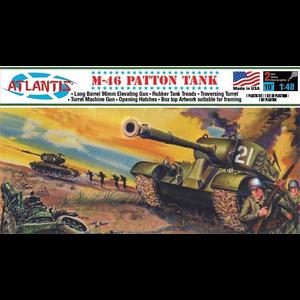 Atlantis Models . AAN 1/48 US M46 Patton Tank