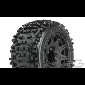 "Pro Line Racing . PRO Pro-Line Badlands 3.8"" MTD Raid 8x32 Wheels 17mm MT F/R"