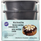 Wilton Products . WIL Mini Cake Pans 4Pk