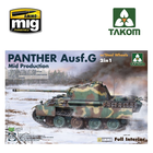 TAKOM . TAO 1/35 WWII German medium Tank Panther Ausf.G Mid production w/ Steel Wheels 2 in 1