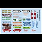 Gofer Racing . GOF 1/24 Hometown Sponsors #2 Decal Sheet