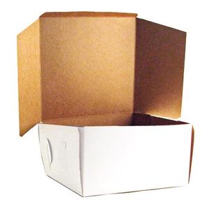 Create Distribution . CDI 14 x 10 x 4 White Bakery Box