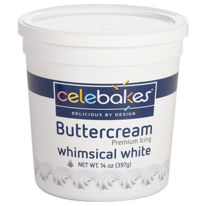 CK Products . CKP Celebakes Whimsical White Buttercream Icing, 14 oz